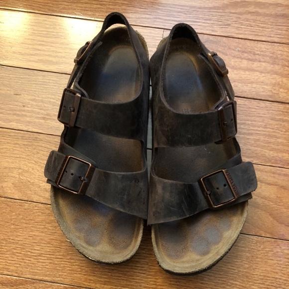 d24c686a02562 Birkenstock Milano Soft Footbed Sandal Mens 40
